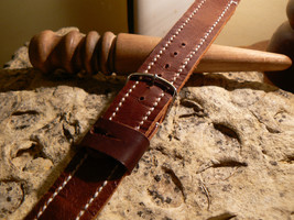 New 24mm Watch strap Racing Style Straps Leather  Handmade bands strapwatch - $25.73