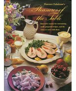 Pleasures of the Table Cookbook Florence Fabricant Elegant Christmas Coo... - $5.99