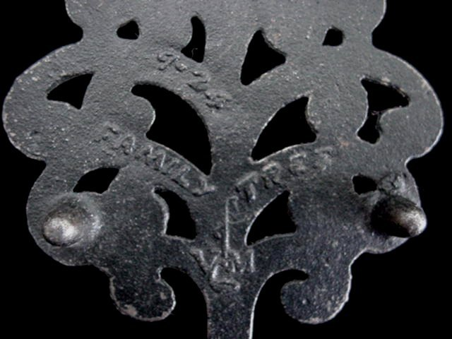 Old Virginia Metalcrafters Cast Iron Family Tree Mini Trivet
