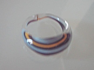 Art Glass Ring Handblown Modernist NEW