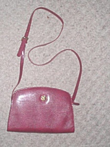 Shoulderbag by MONET Fuchsia Pink Lizard Stamped Leather