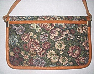 Tapestry Style Shoulder Bag, Purse - VS Logo
