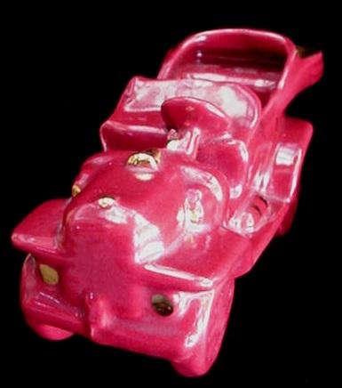 Old William Hirsch Art Pottery Automobile Jalopy Car Planter