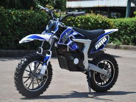 Electric Dirt Bike MotoTec 36V 500W Lithium Blue Motorcycle 3 Speeds Key Lock image 4