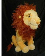 "18"" BIG DISNEY THE LION KING ADULT SIMBA MUFASA STUFFED ANIMAL PLUSH TOY... - $70.13"