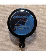 Nfl Carolina Panthers Badge Reel Id Holder Blue Birthday Handmade New - $8.99