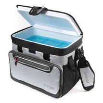 Zipperless Cooler Tote Portable 30 Can Food Drinks Storage Leakproof Lun... - $49.25