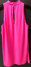 The Impeccable Pig Hot Pink Choker Dress Sleeveless Lined Sz L image 5