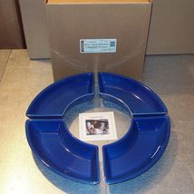 Longaberger Serving Crescent Dishes Cornflower Blue Set of 4 New In Box USA - $26.68