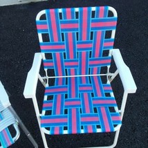 Aluminum Webbed Folding Chair Lawn Beach Patio Camp Poolside  VTG - $23.38