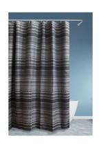 """Homewear 8048-SHWR Saratoga Shower Curtain, 70"""" X 72"""",Black - $43.61 CAD"""