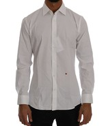 Moschino White Cotton Stretch Slim Fit Dress Shirt 138838 - $98.61+