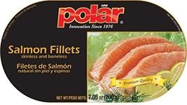 Polar Skinless & Boneless Farm Raised Salmon Fillets 4 Pack 7.5 oz Cans