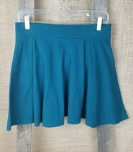 Forever 21 women L mini skirt A-Line flare green - $9.90