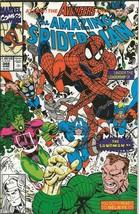 Amazing Spiderman #348 ORIGINAL Vintage 1991 Marvel Comics Avengers Sandman - $19.79
