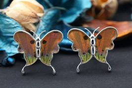 Navia Jewelry Butterfly Wings Urania ripheus Cufflinks HNCU-2R - $49.99
