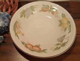 LARGE 1990s GIBSON DESIGNS FESTIVAL BOWL FRUIT AND BROWN TRIM ( 4 AVAILA... - $58,14 MXN