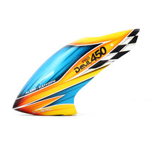 ALZRC Devil 450 Pro V2  RC Helicopter Parts Fiber Glass Canopy Yellow - $25.24