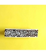Textile indian border craft making block design hand curved wooden fabri... - $13.02
