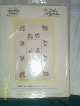 Something Special Baby Afghan Antique Toys Counted Cross Stitch - $24.48