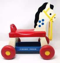 Vintage 1976 Fisher Price Ride On Pony Horse #978 Child Riding Toy Hard ... - $33.85