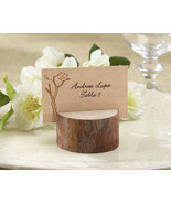 100 Rustic Spring Forest Wood Photo Place Card Holder Wedding Favor with... - $123.45