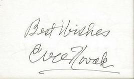 Jane Novak & Eva Novak Dual Signed 3x5 Index Card - $103.94