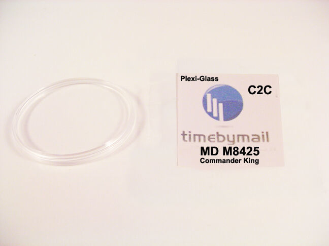 Watch Crystal New For MIDO M8425 COMMANDER KING Datoday Plexi-Glass 36mm C2C - $19.54