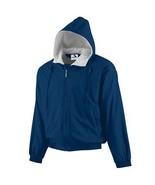 Heavy Duty Men's Hooded Fleece Lined Jacket in Navy in Sizes Small to XL - $49.99