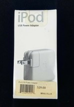 NIB Vintage 2005 Factory Sealed Apple iPod USB Power Adapter M9837LL/A New! OEM - $39.95