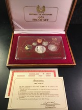 1982 Singapore 6 Coin Silver Proof Set with Original Box Lot#B588 - $93.50