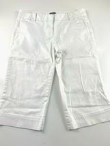 J. Crew Favorite Fit White Capri Women's Pants Size 8 30x17 - $19.75