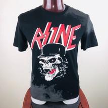 Rise As 1ne One Helmet Skeleton S Mens Black Graphic T Shirt Short Sleeves - $27.04