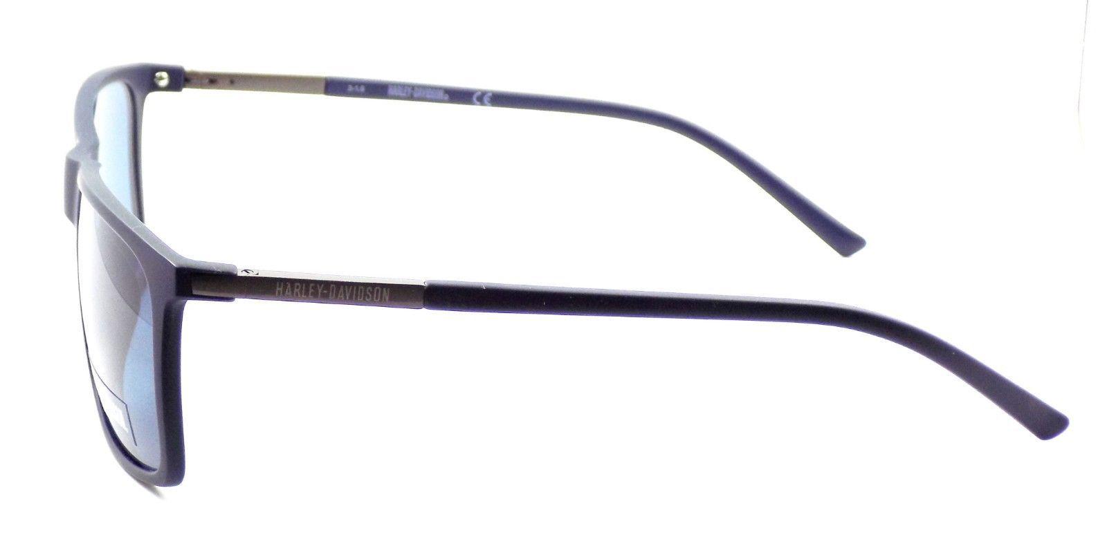 Harley Davidson HD0910X 91V Men's Sunglasses Blue 57-17-140 Blue Lens + CASE