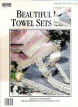 Beautiful Towel Sets to Crochet Leisure Arts 83065 Summer 1992 Crochet L... - $4.84