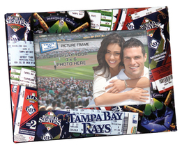 Tampa Bay Rays MLB Ticket Collage 4x6 frame photos cross stitch  - $12.00