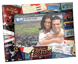 Houston Astros MLB Ticket Collage 4x6 frame photos cross stitch  - $12.00