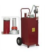 30 Gallon Gas Caddy Tank Storage Drum Barrel Gasoline Fluid Diesel Carri... - $259.99
