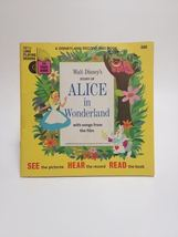 1965 - Alice in Wonderland Disney book with record #306 - $24.00