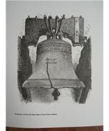 LIBERTY BELL Engraved WOODCUT Print PHILADELPHIA 1851 - $6.00