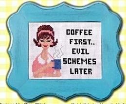 Sassy Lady Coffee cross stitch chart Pinoy Stitch - $6.30