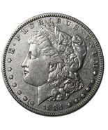 1884S MORGAN $1 SILVER ONE DOLLAR Coin Lot A 720 - £111.43 GBP