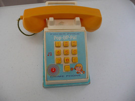 1968 FISHER PRICE POP UP PAL TELEPHONE - $3.95