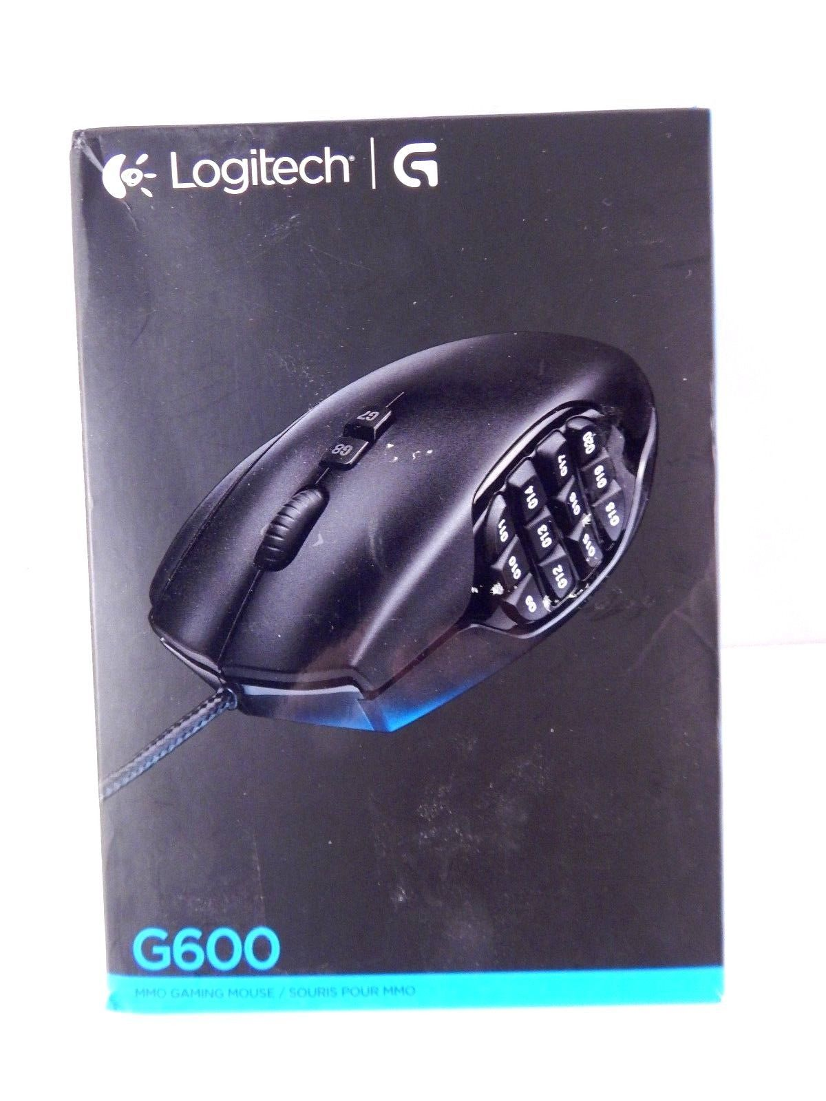 9bd02ca79c8 Logitech G600 Mmo Gaming Mouse, Rgb Backlit, 20 Programmable Buttons
