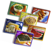 Stages Learning Food Group Wooden Cube Set of 6 Language Builder Prescho... - $114.08