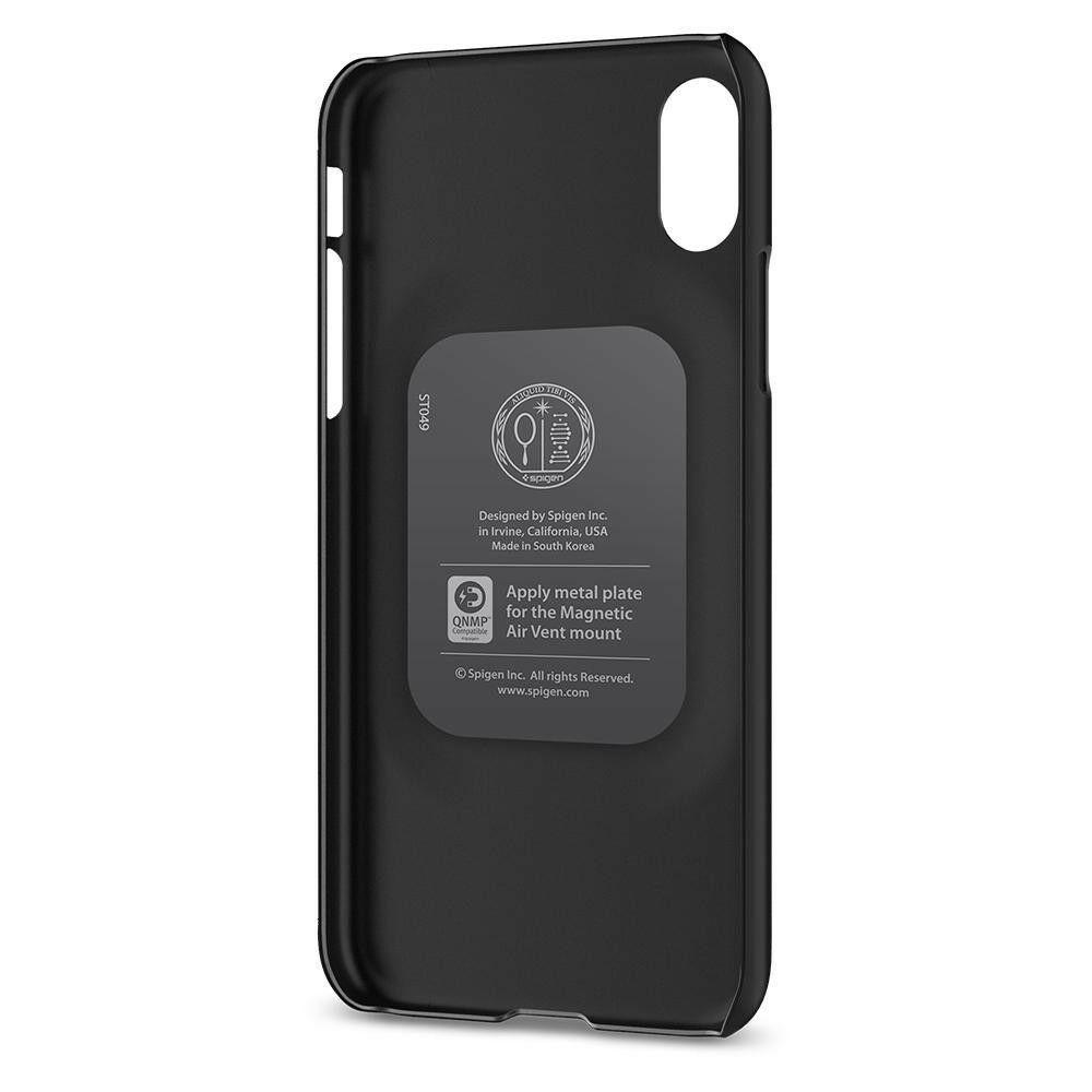 Spigen Iphone X Thin Fit Matt Black Case