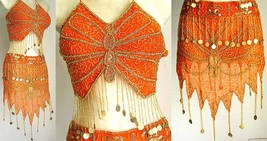 Egyptian Belly Dancing Costume Orange A - $49.99