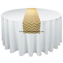 Chevron Zig Zag Table Runner Yellow and White Chevron Table Runner Cente... - $16.00