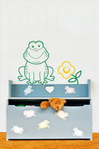 Frog & Flower Wall Decal-Removable Wall Art Sti... - $20.00