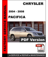 CHRYSLER PACIFICA 2004 2005 2006 2007 2008 FACTORY SERVICE REPAIR FSM MA... - $14.95